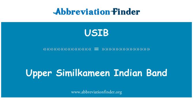 USIB: Banda indio Similkameen superior