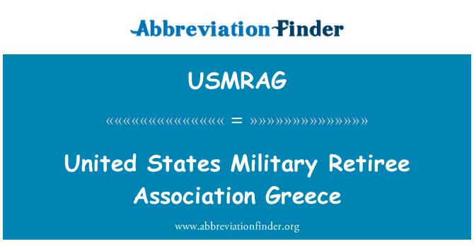 USMRAG: United States Military Retiree Association Greece