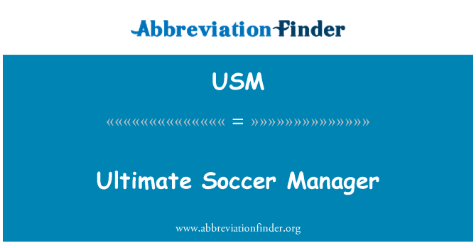 USM: Ultimate Soccer Manager
