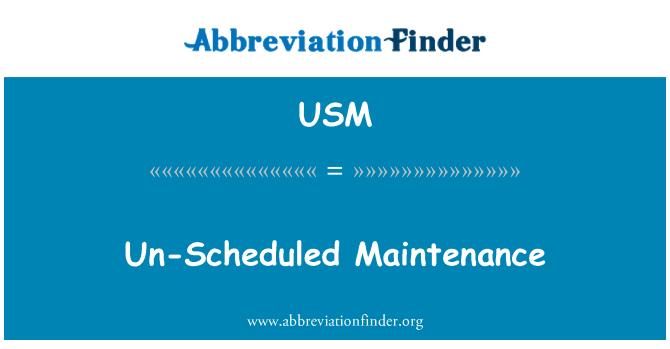 USM: Mantenimiento no programado