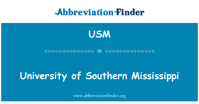 USM: University of Southern Mississippi