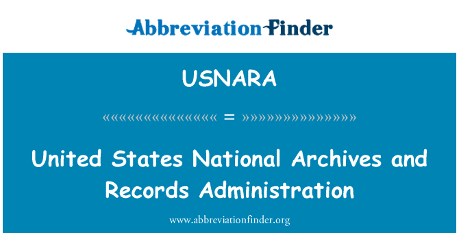 USNARA: United States National Archives and Records Administration