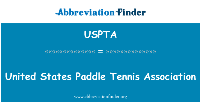USPTA: United States Paddle Tennis Association
