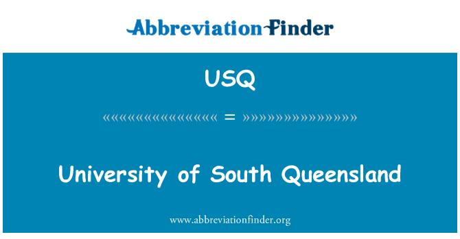 USQ: University of South Queensland