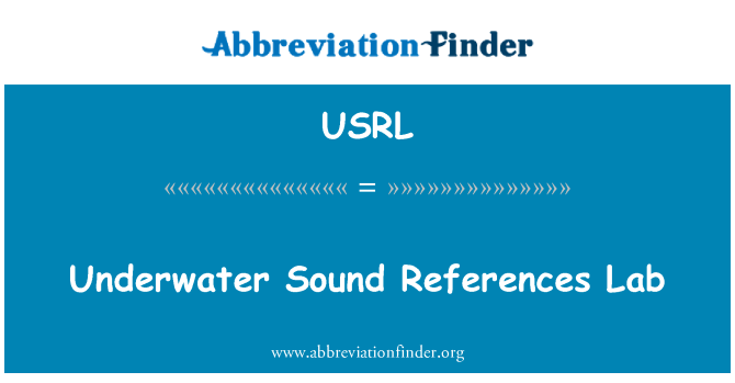 USRL: Laboratorio submarino referencias sonido