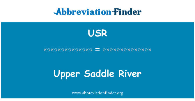 USR: Upper Saddle River