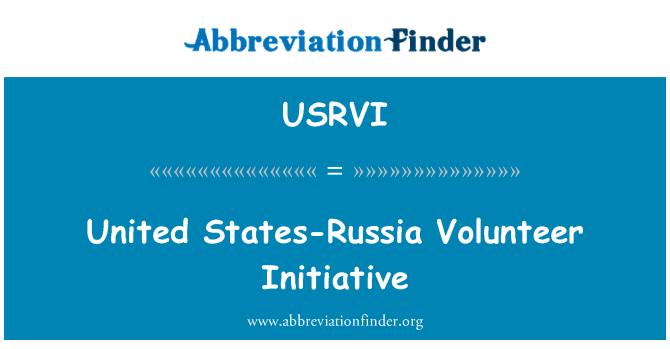 USRVI: United States-Russia Volunteer Initiative