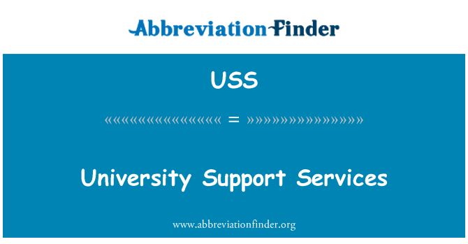 USS: University Support Services