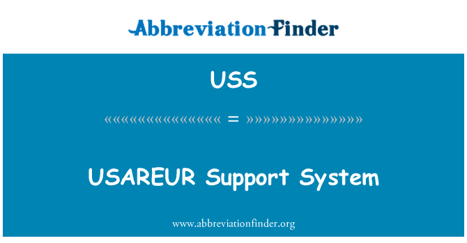 USS: USAREUR Support System