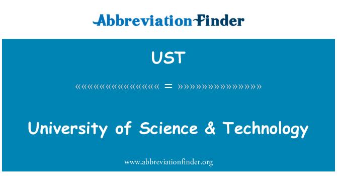 UST: Universidad de Ciencias & tecnología