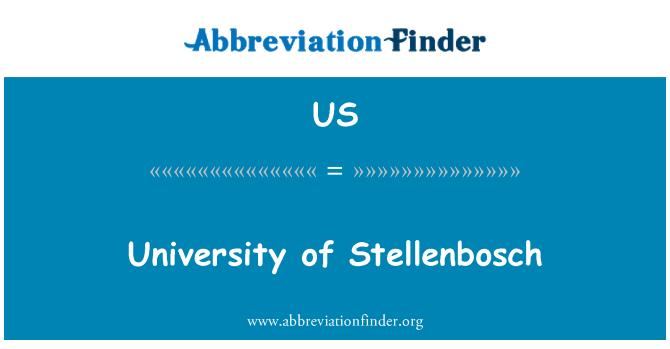 US: University of Stellenbosch