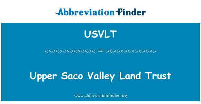 USVLT: Upper Saco Valley Land Trust