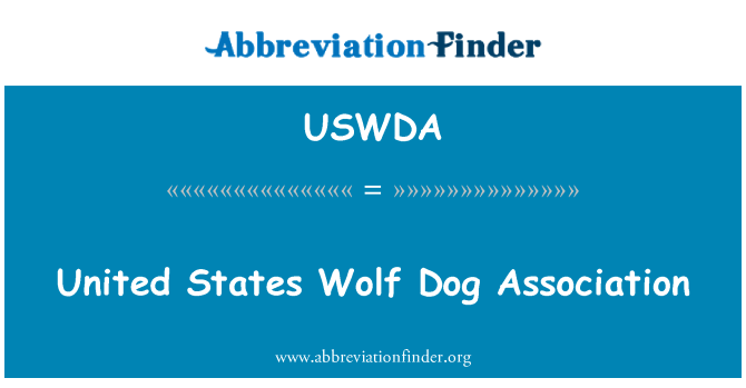 USWDA: Asociación norteamericana de perro lobo