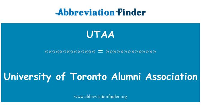 UTAA: Toronto Üniversitesi Mezunlar Derneği