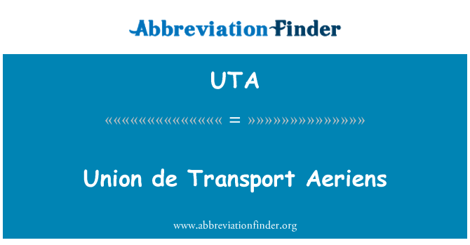 UTA: Union de Transport Aeriens