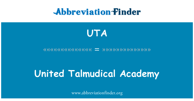 UTA: United Talmudical Academy