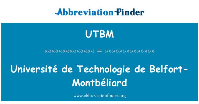 UTBM: Université de Technologie de Belfort-Montbéliard