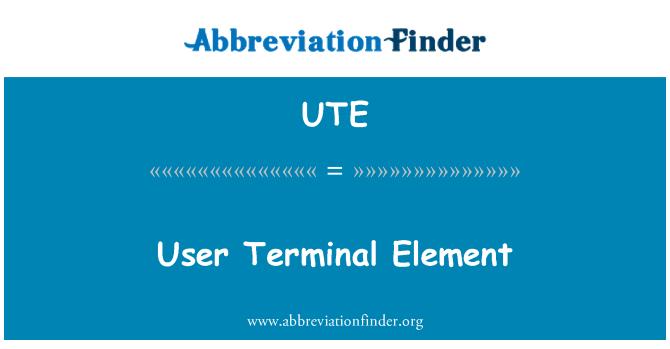 UTE: User Terminal Element