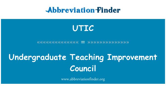 UTIC: Lisans öğretimi geliştirme Konseyi