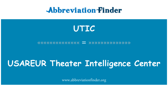 UTIC: USAREUR tiyatro istihbarat Merkezi