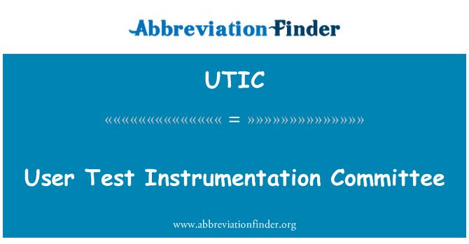 UTIC: Kullanıcı Test araçları Komitesi