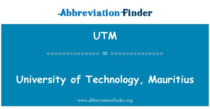 UTM: University of Technology, Mauritius
