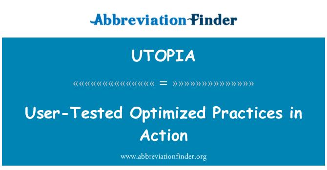 UTOPIA: Korisnički test optimiziran prakse u akciji