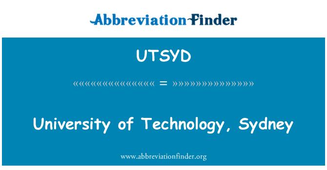 UTSYD: University of Technology, Sydney