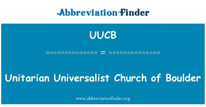 UUCB: Unitarian Universalist Church of Boulder