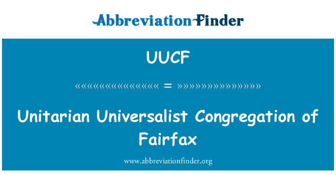 UUCF: Unitarian Universalist Congregation of Fairfax