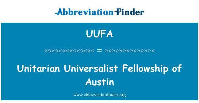 UUFA: Unitarian Universalist Fellowship of Austin
