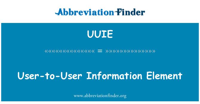UUIE: User-to-User Information Element