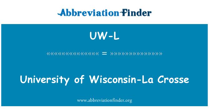 UW-L: University of Wisconsin-La Crosse