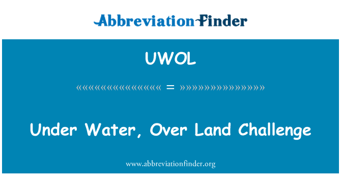 UWOL: Under Water, Over Land Challenge