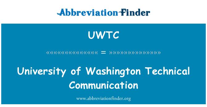 UWTC: University of Washington Technical Communication