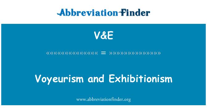V&E: 癖和露阴癖