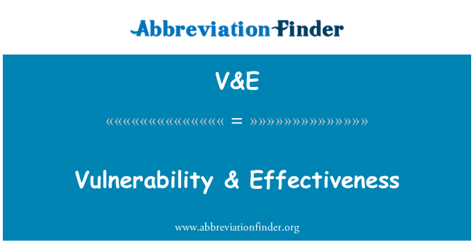 V&E: Vulnerability & Effectiveness