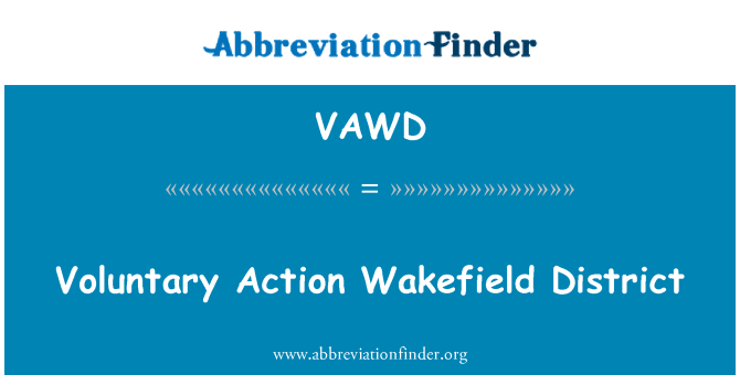 VAWD: Voluntary Action Wakefield District