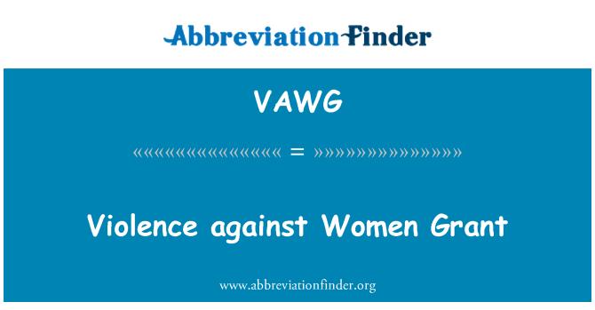 VAWG: Violence against Women Grant