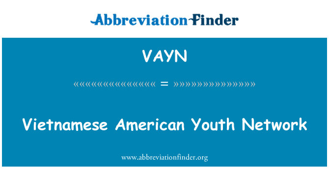 VAYN: Vietnamese American Youth Network