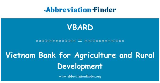 VBARD: Vietnam Bank for Agriculture and Rural Development