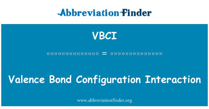 VBCI: Valence Bond Configuration Interaction