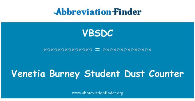 VBSDC: Venetia Burney Student Dust Counter
