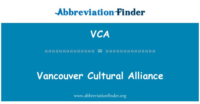 VCA: Vancouver Cultural Alliance