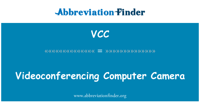 VCC: 视像会议电脑摄像头