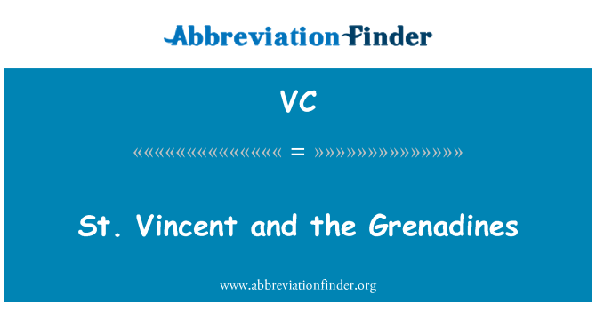 VC: St. Vincent and the Grenadines