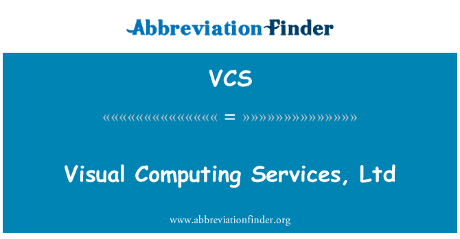 VCS: Visual Computing Services, Ltd