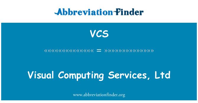 VCS: 视觉计算服务有限公司