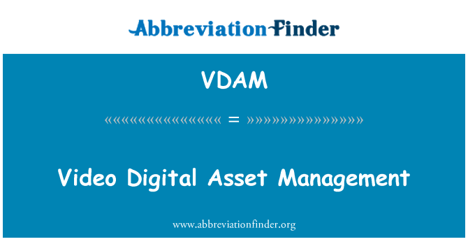 VDAM: Video Digital Asset Management