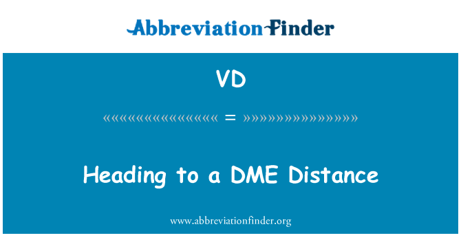 VD: Heading to a DME Distance